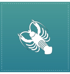 crawfish flat icon vector image