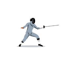 Foil fencer sign vector image