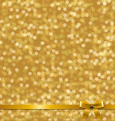 Golden Card With Ribbon vector image vector image