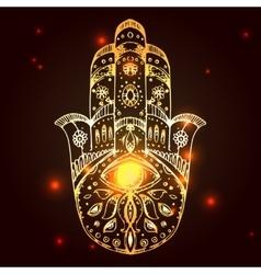 Hamsa hand of Fatima vector image