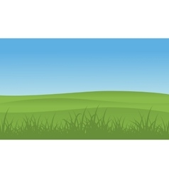 Hill with grass landscape vector