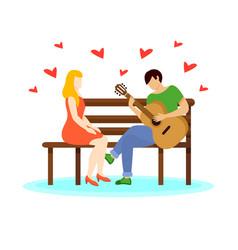 Love couple concept vector
