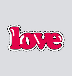 Love icon with dashed line romantic inscription vector