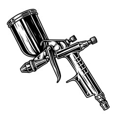 monochrome of spray gun vector image