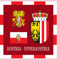 national ensigns of upperraustria - austria vector image