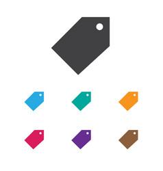 Of trade symbol on badge icon vector