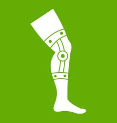 Retentive bandage icon green vector
