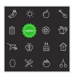 Set of Garden Elements can be used as Logo or Icon vector image