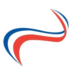 style of the French flag vector image