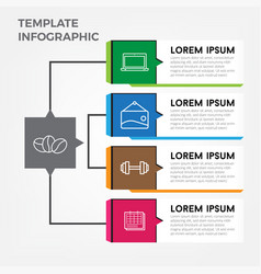 template business infographic elements vector image