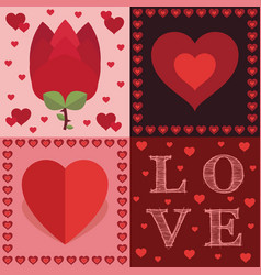 Valentine decorations vector