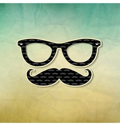 Vintage Hipster Poster vector image vector image