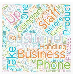 Why do your customers complain and what can you do vector