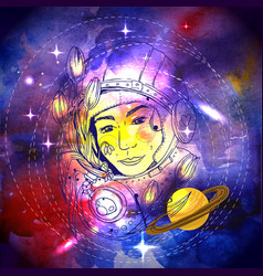 woman space vector image