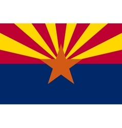 Flag of arizona in correct proportions and colors vector