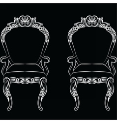 Baroque luxury style armchair furniture vector