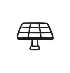 Solar panel sketch icon vector