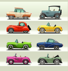 Car icon set-7 vector
