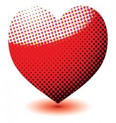 halftone love heart vector image