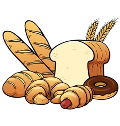 Breads set vector