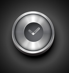Metallic clock icon vector