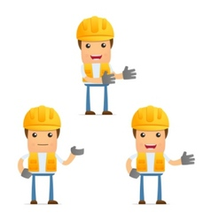 cartoon workman vector image