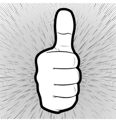 A hand showing thumbs up vector