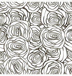 Beautiful black and white seamless pattern in vector