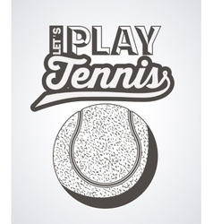 Tennis sport emblem design vector
