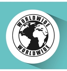 World wide design vector