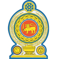 Democratic socialist republic of sri lanka emblem vector
