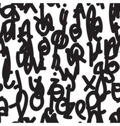 Hand-painted seamless pattern with alphabet vector