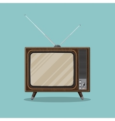 Vintage retro tv vector
