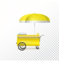 Fast food cart street shop vector