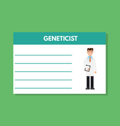 about doctor geneticist template medical vector image vector image