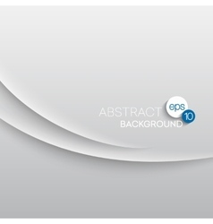 Abstract wave white background vector image vector image