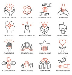 Altruism and benevolence icons - 1 vector