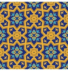 Arabic seamless patterns vector image