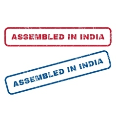 Assembled in india rubber stamps vector