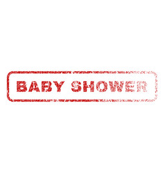 Baby shower rubber stamp vector