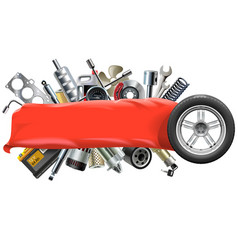 Banner with Car Spares vector image