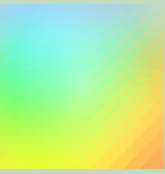 Blue orange green rows of triangles background vector