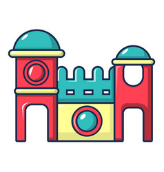 Bounce house icon cartoon style vector