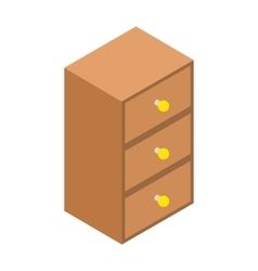 Chest of drawers isometric 3d icon vector image vector image