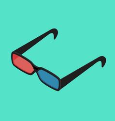 cinema glasses isometric view vector image