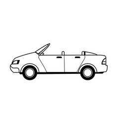 convertible car sport vehicle transport vector image