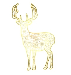 Deer golden isolated vector image vector image
