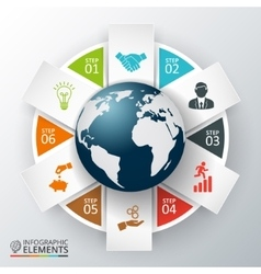 earth for infographic vector image vector image