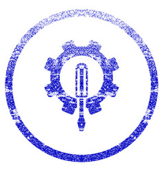 engineering grunge textured icon vector image vector image
