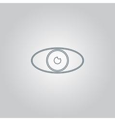 Eye icon Flat design style vector image vector image